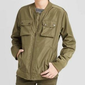Boy's Cat & Jack Olive Green Bomber Jacket 6/7